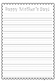 FREE Mother's Day Letter Lined Paper