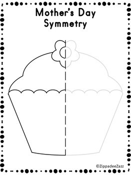 FREE Mother's Day Symmetry Drawing Activity for Art and Math SAMPLE