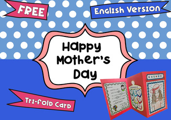FREE Mother's Day Tri-fold Card