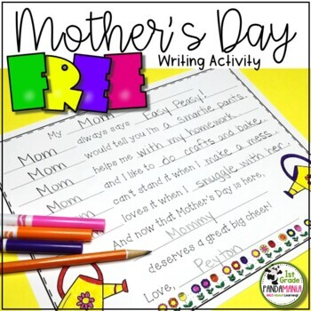 Mother's Day FREE Writing Activity K-2