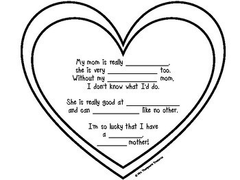 FREE Mother's Day Writing Crafts