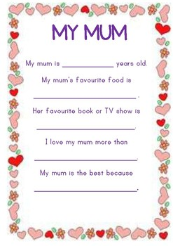 FREE Mother's day letter
