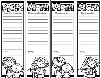 {FREE} Mother's Day Bookmarks