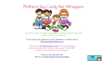 FREE Mother's Day Candy Bar Wrapper