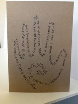 FREE: Mothers' Day Card Word Handprint Instructions