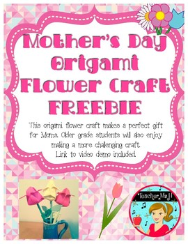 Mother's Day FREE Origami Flower Craft