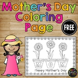 FREE -- Mother's Day Daisy Flowers Coloring Page
