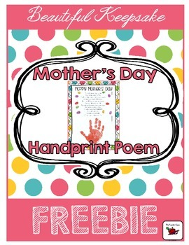 Mother's Day Poem {Handprint} FREE