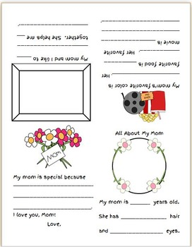 FREE Mother's Day Mini-Book Also includes one for aunt and
