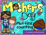 FREE Mother's Day Muffins Counting MINI BOOK
