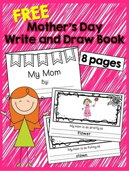 FREE Mother's Day Write and Draw Book