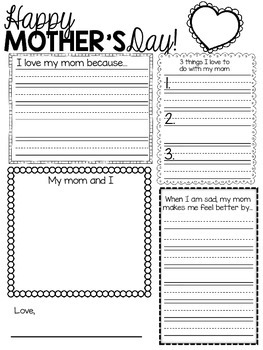 {FREE} Mother's Day Writing Activity