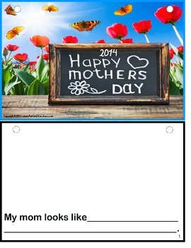 FREE Mother's Day Writing Activity Gift Book {Kindergarten/Special Education}