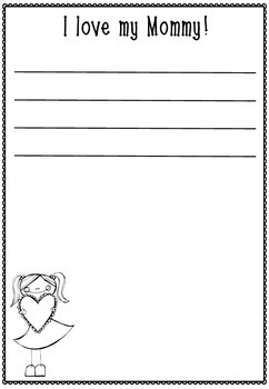 FREE Mother's Day Writing Templates
