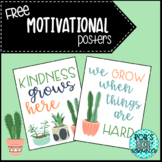 FREE Motivational Posters- Cactus Theme (Sample)