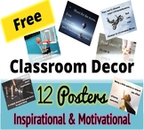 FREE Motivational Posters w/ Inspirational Quotes Sports Theme Classroom Decor