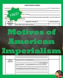 FREE! Motives for American Imperialism Writing Template (U