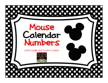 FREE  Mouse Calendar Numbers