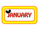 FREE Mouse Month Headers with yellow border