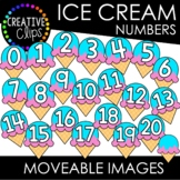 FREE Moveable Ice Cream Numbers 0-20 (Moveable Images)