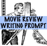 FREE! Movie Review Writing Prompt with Film Graphic
