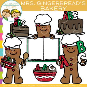 FREE Mrs. Gingerbread's Bakery Clip Art