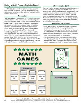 FREE Multi-Match Math Games Guide for Grades 6-7-8 (English/Spanish)