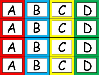 FREE Multiple Choice Answer Cards- Student Response Tool