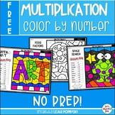 FREE Multiplication Worksheets - Color by Number Worksheets