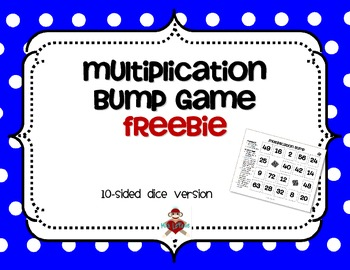 FREE Multiplication Facts Bump Game
