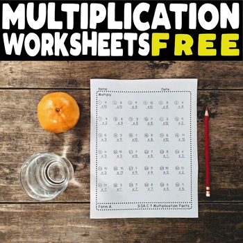 FREE Multiplication Facts Worksheets 3.OA.C.7