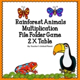 FREE Multiplication File Folder Game - Rainforest 2 X Table