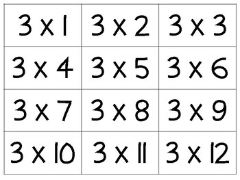 It is a graphic of Geeky Printable Multiplication Flash Cards 0-12