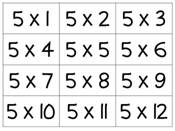 Clean image throughout printable multiplication flashcards with answers on back