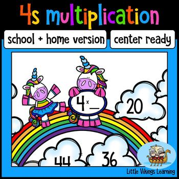 FREE Multiplication Game: Four Times Table