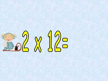 FREE Multiplication PowerPoint 2s- Winter Theme