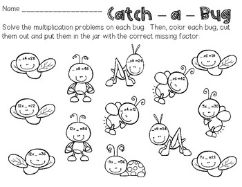 FREE Multiplication Practice - Catch a Bug!