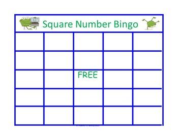 FREE Multiplication Square Number Bingo!