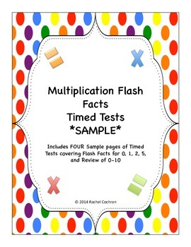 FREE Multiplication Timed Test Sample Pack