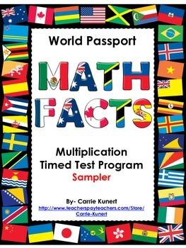 FREE Multiplication Timed Test World Passport Program Samp