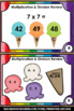 FREE Multiplication and Division Review 3rd Grade Math Centers Task Cards