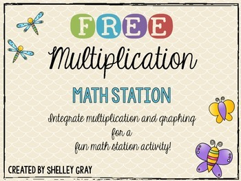 FREE Multiplication and Graphing Math Station