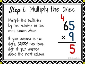 FREE Multiplication with One-Digit Multipliers Anchor Chart CLIPCHART