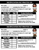 FREE Multipliction Fact Log