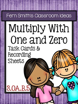 3rd Grade Go Math 3.7 Multiply with One and Zero Task Cards Freebie