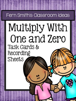 FREE Multiply with One and Zero Task Cards