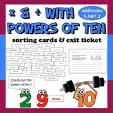 FREE Multiplying and Dividing with Powers of Ten sorting cards and exit ticket