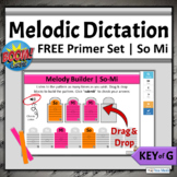FREE Music Boom Cards   Melodic Dictation Key of G Primer - So Mi