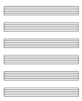 FREE: Music Staff paper in 7 different sizes by Music Therapy Tunes!