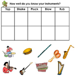 FREE Musical Instrument Sort